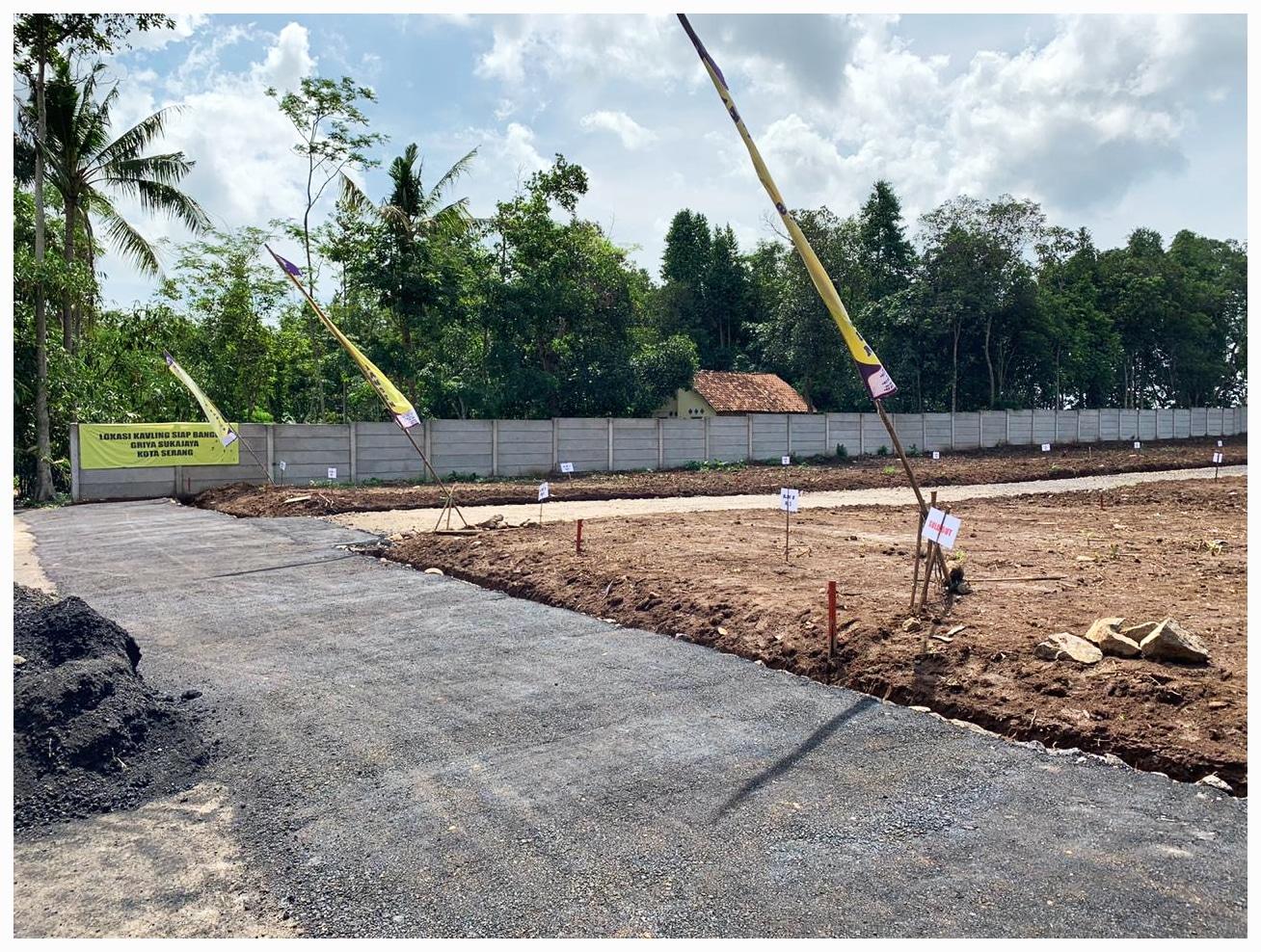 Foto lokasi jual tanah Kavling murah Serang griya sukajaya masuk depan