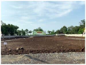 Foto lokasi jual tanah Kavling murah serang griya sukajaya tampak spanduk depan
