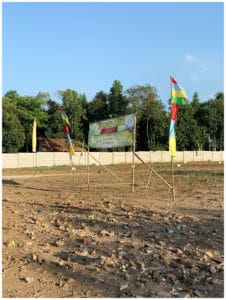 Foto lokasi jual tanah Kavling murah sukajaya spanduk sudut kanan