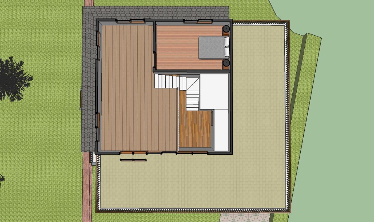 Denah rumah dijual megamendung gadog lantai 2